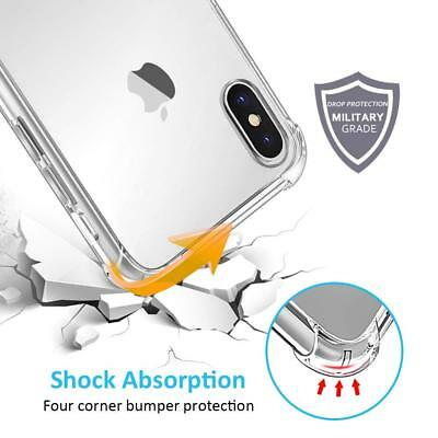 For iPhone XS Max XR&X Case Clear Transparent Bumper Cover Shockproof Protective