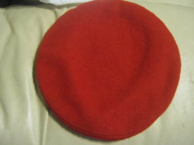 b748ac762f1e3 VINTAGE OFFICIAL BOY SCOUT America BSA RED WOOL BERET HAT SIZE Medium 6 7 8
