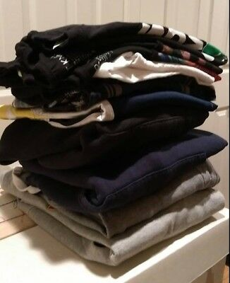 LOT OF 10 Mens Size Medium Clothing Items - Good Condition & Clean Tops Bottoms