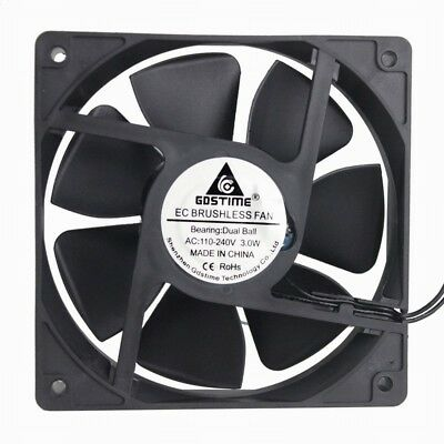 GDSTIME Ball Bearing AC 110V-240V 120x120x25mm Computer Cooling Fan 120mm x 25mm