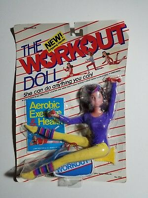 """SHILLMAN """"THE WORKOUT DOLL"""" 1984 NEW SEALED PACKAGE Barbie Clone"""