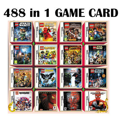 488 In 1 Video Games Card For Nintendo NDSI NDS NDSL 2DS 3DS Cartridge Console