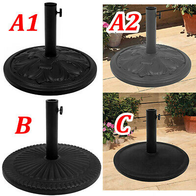 New Heavy Duty Parasol Base Compound Resin Patio Garden Sunshade Umbrella Stand