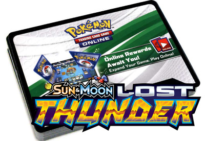 50 Sun & Moon LOST THUNDER PTCGO Pokemon TCG Online Booster Codes STOCK READY!!!