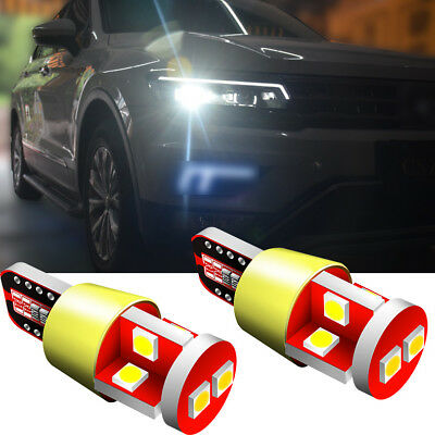 Pair LED Cars Side Light Bulbs Whites Canbus ERROR FREE 8 SMD For Mini Cooper S