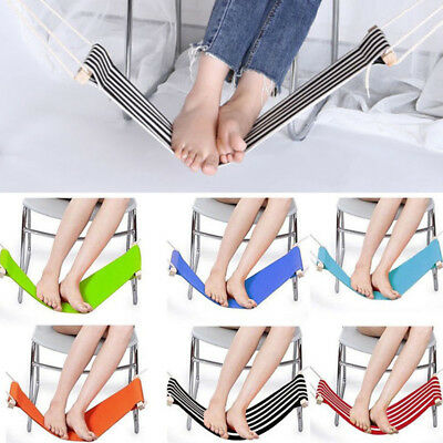 Carry-on Airplane Footrest Portable Adjustable Foot Rest Feet Hammock Stand Desk