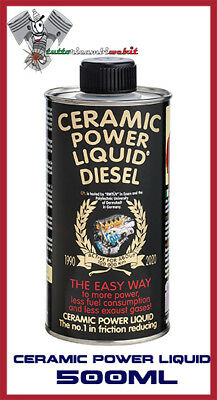 Ceramic Power Liquid Diesel 500Ml Additivo Trattamento Motore Fino A 2.500Cc