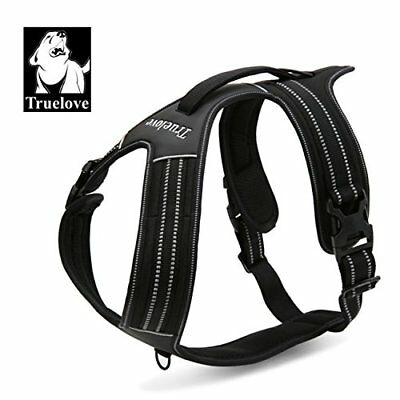 TRUE LOVE Reflective Dog Harness Handle Soft Padded No-Pull Pet Vest, Durable