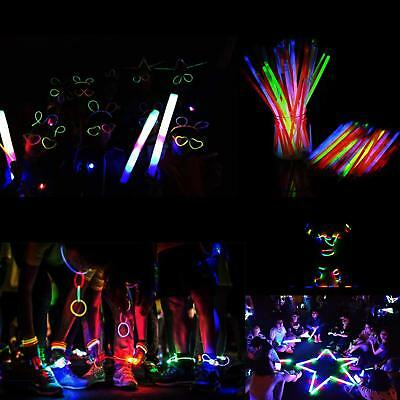 "Glow Sticks 8 ""100 Pcs 7 colores Light Up Party Luces decorativas de neón"