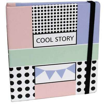 Cool Story Slip In Instax Mini Photo Album Overall Size 4.5x5 Inches Holds 56 Ph