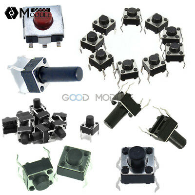 100PCS 6x6 3.1/4.3/5/6/7/8/9/10/13mm Momentary Tactile Push PCB Button Switch