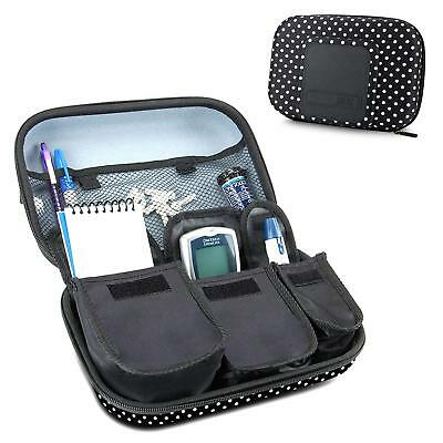 Diabetic Supplies Travel Case Organizer For Blood Glucose Monitoring Systems ,
