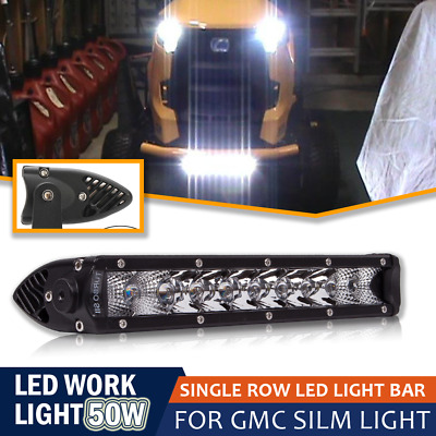 10Inch Single Row Slim LED Light Bar Front Bumper Combo Beam for Truck Jeep Boat