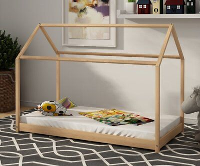 Kids Bed Frame House Child Wooden Housebed Scandinavian Style Single 140/160cm