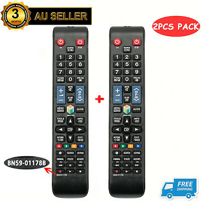 2PCS NEW Replace Remote BN59-01178B / AA59-00581A for Samsung SMART TV AU SELLER