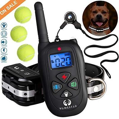 wangstar Dog Training Collar Remote 1450FT Rechargeable Waterproof Shock Collar