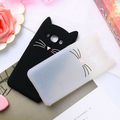 Case For Samsung Galaxy J2 J3 J4 J5 J6 J7 A3 A5 A6 A7 A8 3D Cute Beard Cat Cover