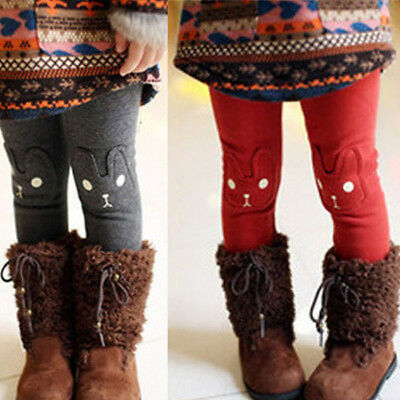 Baby Kids Girl Winter Warm Leggings Toddler Stretch Skinny Cotton Trousers Pants