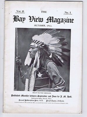 Bay View Magazine 1913 American Indian issue art education Santa Fe