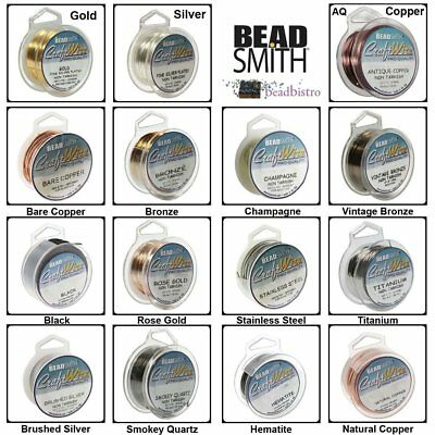 Tarnish Resistant, Silver BeadSmith Wire 16 - 28 Gauge Craft Wire (15 COLORS)