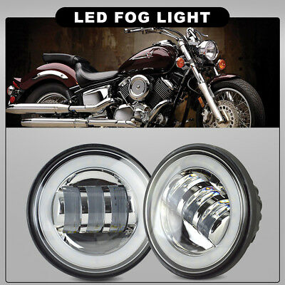2x 30W 4-1/2 4.5Inch CREE LED Fog Light Passing Spot fit Harley Daytime