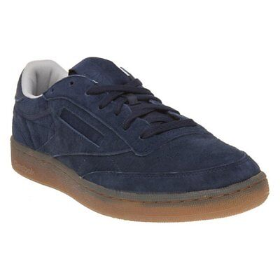 178df588bb8 NEW MENS REEBOK Navy Club C 85 Suede Trainers Court Lace Up -  63.78 ...