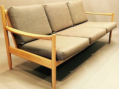 "****** Canapé Marron ""design Scandinave"" 1960 ******"