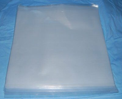 """Pack of 50 - 12"""" Clear Polythene 250 Gauge Record Sleeves"""