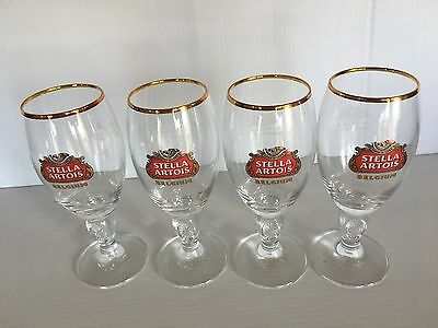 FOUR (4) STELLA ARTOIS 15 CL (5 Ounces) CHALICES     GLASS SAMPLERS