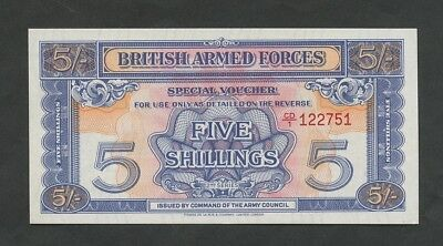 BRITISH ARMED FORCES 5 sh  1959  2nd series  M20c  Uncirculated  Banknotes