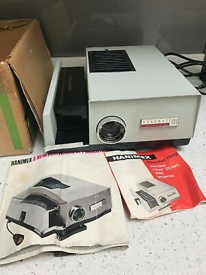 35mm Slide projector HANIMEX Hanomat 1000, Slide Tray,100mm Lens, Original BOX