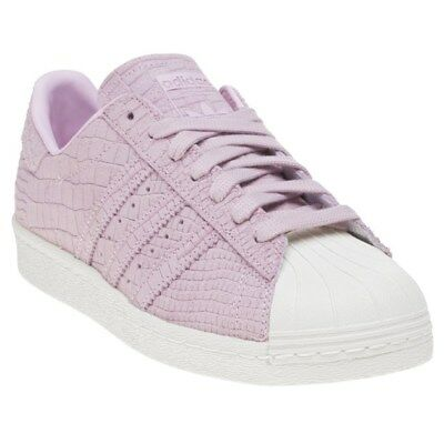NEW WOMENS ADIDAS PINK SUPERSTAR 80'S SUEDE Sneakers Court