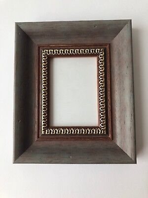 NEW Quality wooden ACEO Art card 3.5 x 2.5 wine red - grey picture frame