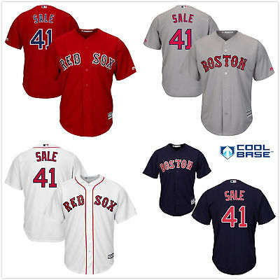 f1615bc06 Men's #41 Chris Sale Cool Base Jersey Boston Red Sox Red / Navy / White