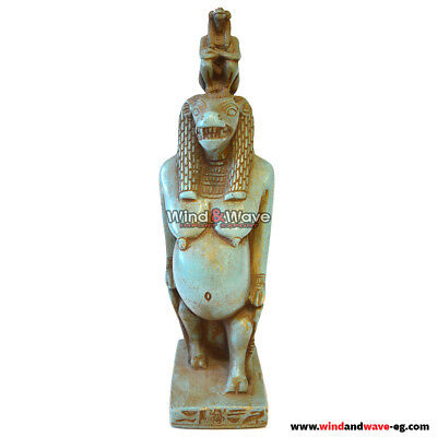 Very Unique Ancient Egyptian Statue of the Goddess Taweret Hold God Of Wisdom