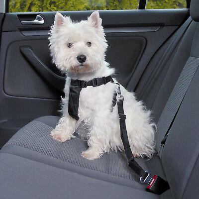 Dog Car Harness fully adjustable also be used for walks easy to put on 5 sizes