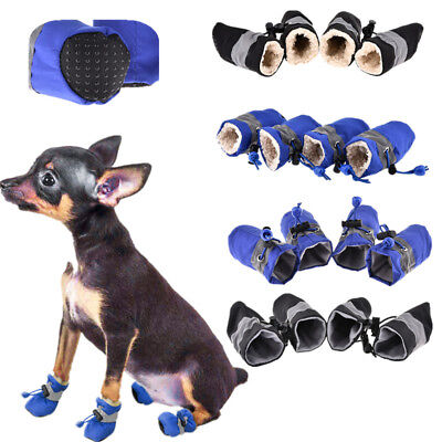 Chic Pet Warm Shoes Non-slip Nylon Medium Dog Waterproof Boots Socks Cat Shoes