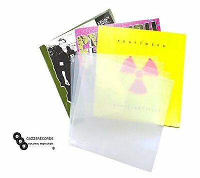 "50 x 12"" Inch Album Record Sleeves LP Outer Covers 520g Gauge Polythene Plastic"