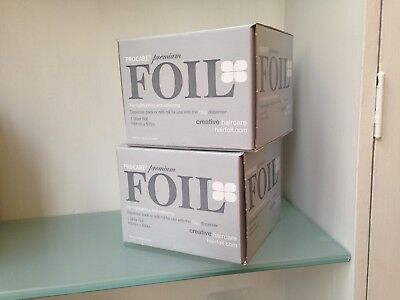 Procare Foil Highlighting Hairdressing Premium Foil Silver 100mmx 500m x 2 boxes