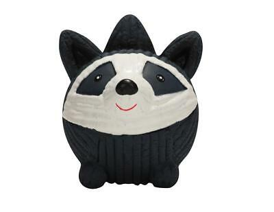 HuggleHounds Large Ruff Tex Raccoon Pet Toy (NEW) Dog Puppy Chew Squeak