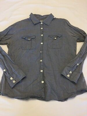00ec31d25 J Crew The Perfect Shirt Womens Small Chambray Long Sleeve Button Down Top S