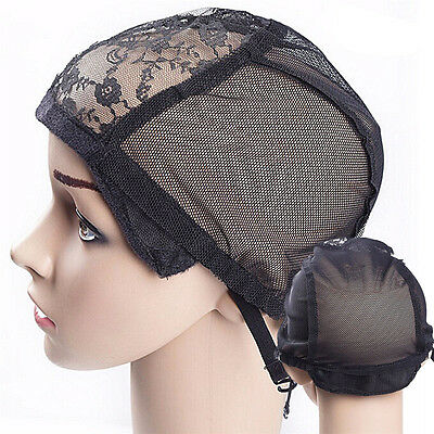 Wig Cap for Making Wigs with Adjustable Straps Breathable Mesh Weaving Cap TFHN