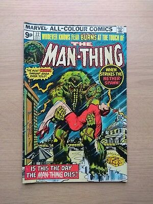 Marvel The Man Thing Comic #22