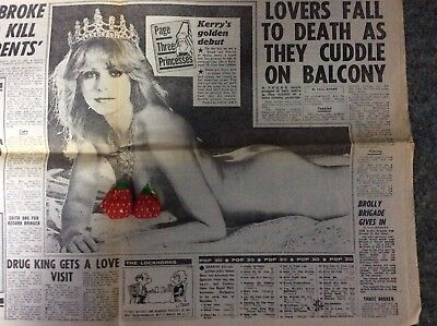 Sun with page 3 Girl, (Princess)Kerry, In Royal Wedding Day Issue.