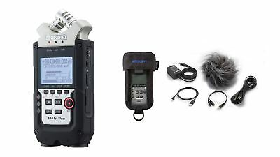Zoom H4n Pro Handy Recorder + Case & APH-4nPro Accessory Pack w/ Wavelab LE