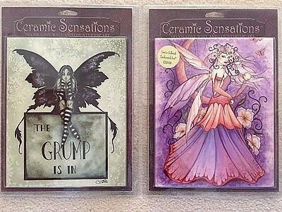 Ceramic Sensations Fairies Tile The Grump & Enchanted Moon NEW ~ Ships FREE