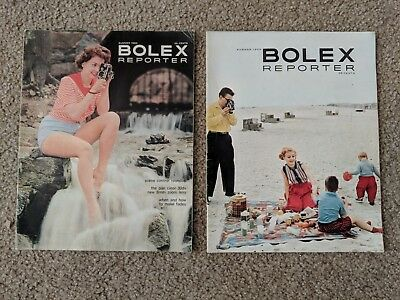 1958 and 1959 Bolex Reporter Magazines - Bolex Camera 16mm Camera 8mm Camera
