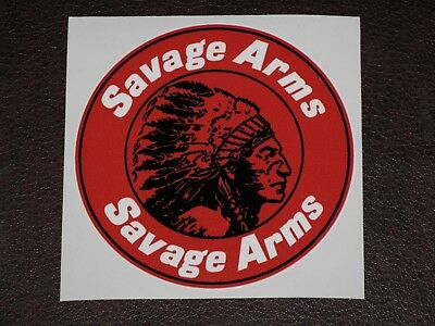 "SAVAGE ARMS FIREARM VINYL STICKER DECAL 3.5"" RIFLE GUN HUNT Free Shiping NEW"