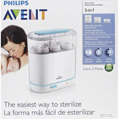 - NEW - Philips Avent 3-In-1 Electric Steam Sterilizer
