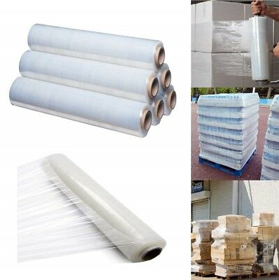 2 Rolls Strong Clear Pallet Stretch Shrink Wrap Parcel Packing Cast Cling Film
